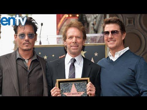 Johnny Depp and Tom Cruise Help Jerry Bruckheimer Celebrate