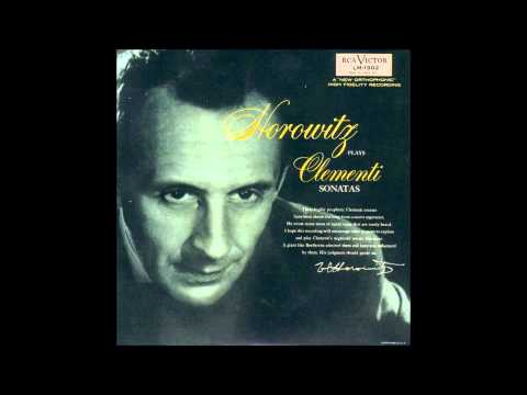 Clementi - Piano sonata op.26 n°2 - Horowitz