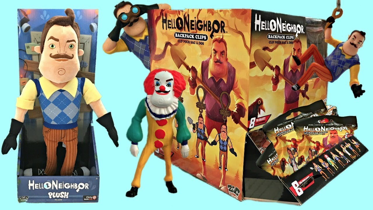Hello Neighbor Toys Blind Bags Plush Surprises Unbo