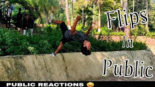 FLIPS IN PUBLIC ! FLIPS REACTION 😮 |  PEOPLE REACTING TO CRAZY FLIPS IN PUBLIC !