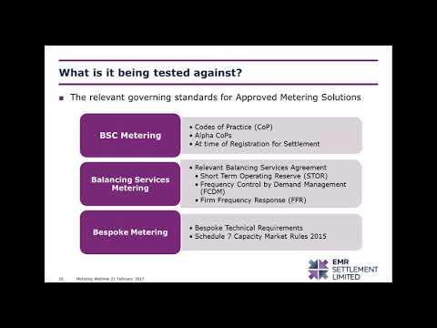 EMR webinar  an overview of metering assurance in the Capacity Market