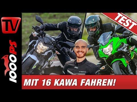 Kawasaki Z125 und Ninja 125 Test deutsch - Top Speed - Sound
