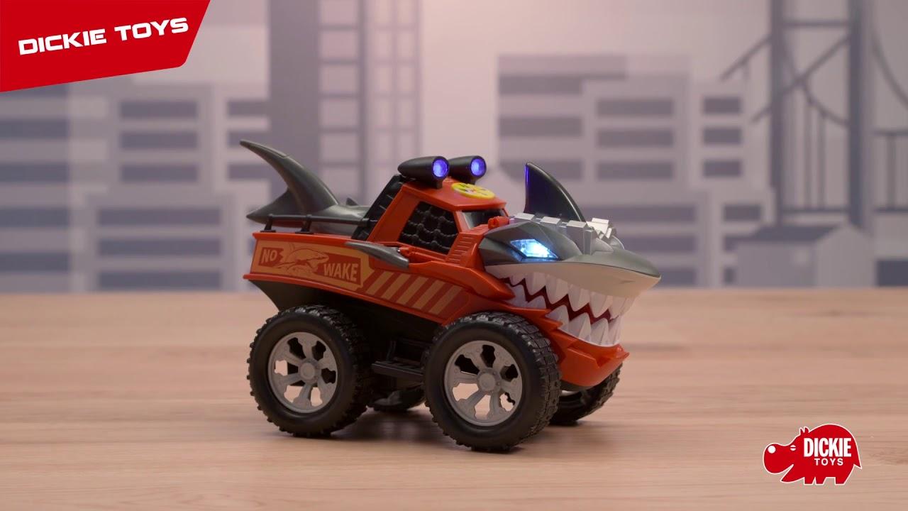 Машинка Dickie Стремительная Акула моторизированная 30 см свет звук