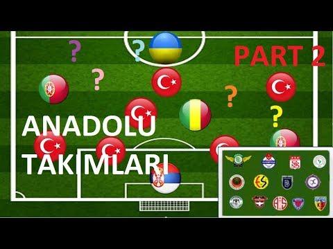 Süper Lig Takım Bulmacası (PART 2- ZOR) – ANADOLU TAKIMLARI – Ülkelerden Takım Bulmaca