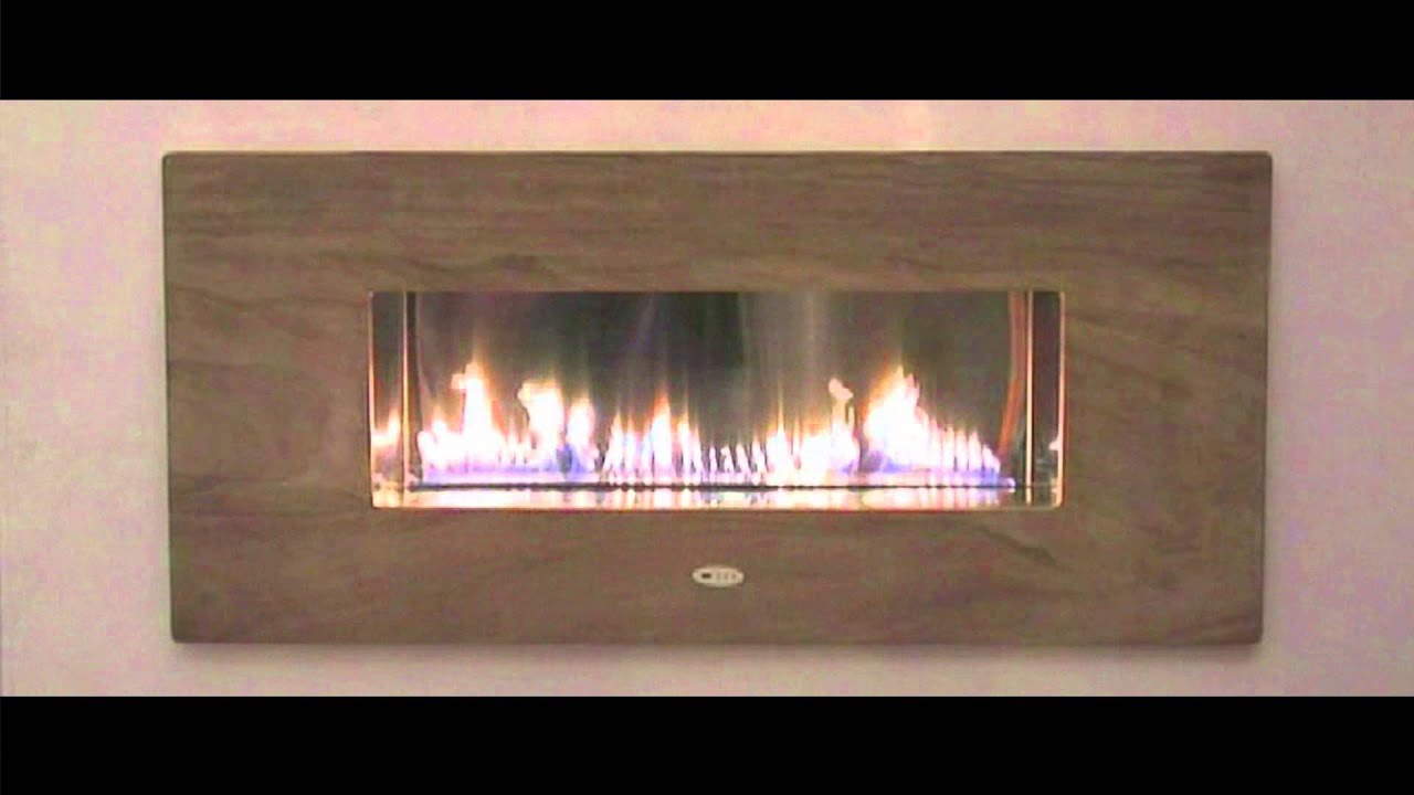 Fire ribbon caminetto a gas con canna fumaria aperto senza vetro youtube - Stufa a gas senza canna fumaria ...