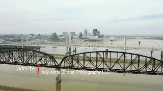 Ohio River and Louisville bridge