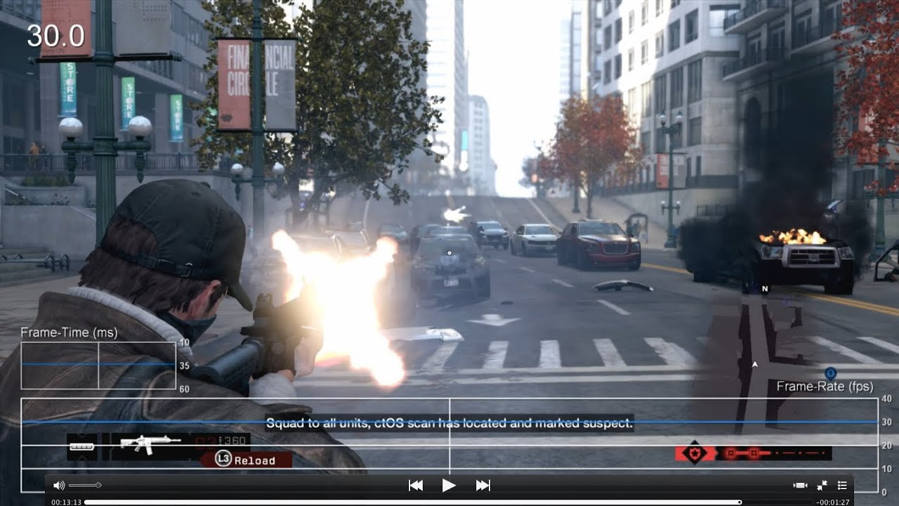 Watch Dogs PS4 Frame-Rate Test - YouTube