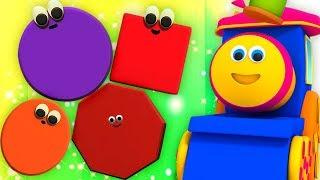 Bob şekiller Tren   Eğitici Videolar   Geometrik şekiller   Bob Shapes Train   Kids Tv Türkçe