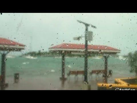 Powerful Hurricane Irma Roars into Caribbean