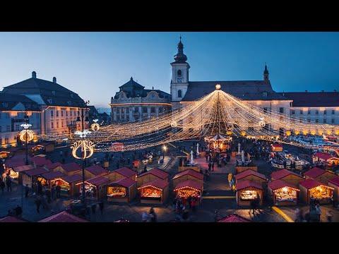 Sibiu Transylvania Romania Timelapse