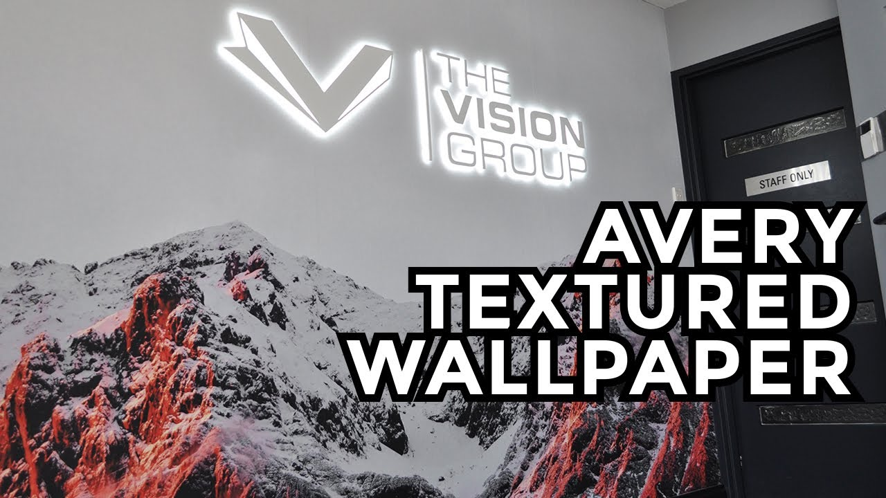 Textured Wallpaper and LED Logo