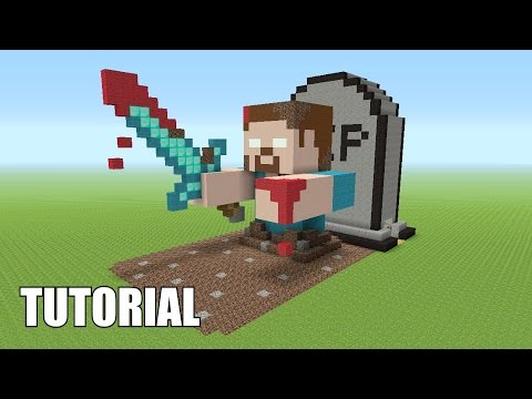 Minecraft Tutorial: How To Make A HEROBRINE! RISING FROM THE DEAD! (Survival House)