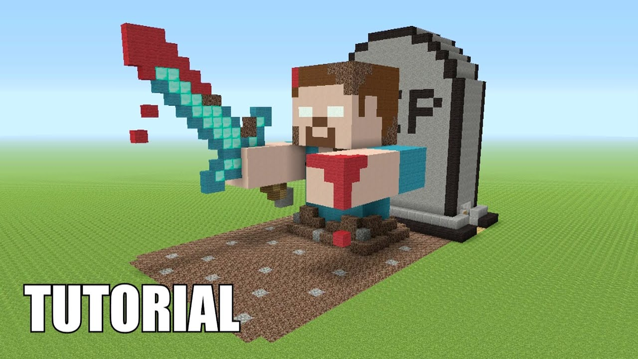 Minecraft Tutorial: How To Make A HEROBRINE! RISING FROM