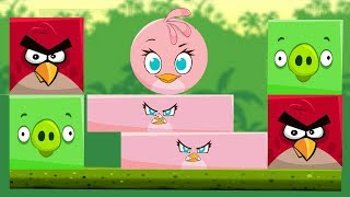 Angry Birds Kick Piggies - STELLA TRANSFORM TO RECTANGLE TO KICK ALL BIRDS AND PIGS!