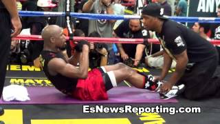 Floyd Mayweather Vs Manny Pacquiao Abs Workout Vs Abs Workout - Esnews Boxing