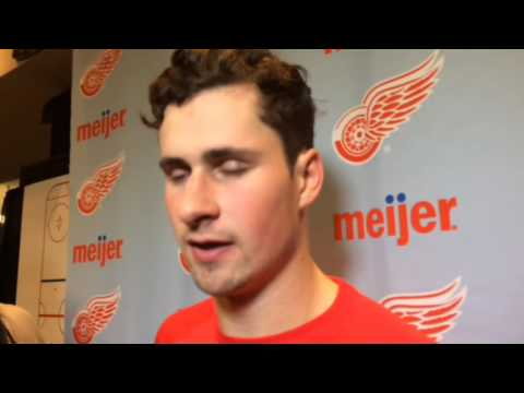 Red Wings' Dylan Larkin breaks down first career fight