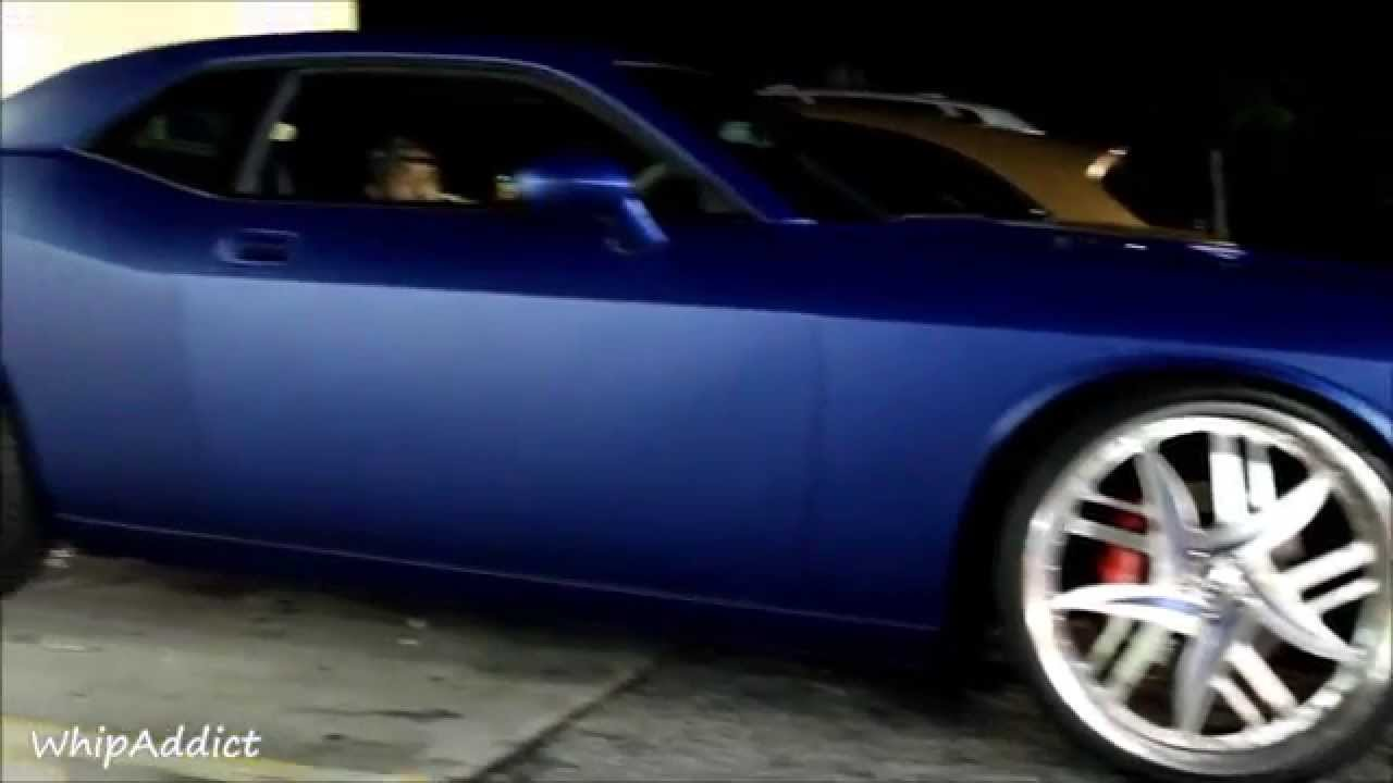 Whipaddict matte blue challenger srt8 392 on forgiato decimo 24s youtube