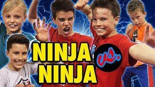 Ninja Kidz TV Epic Flip Challenge with Ashton, Bryton, Payton & Paxton