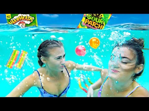 Thumbnail: Trying SOUR CANDY Underwater Challenge!
