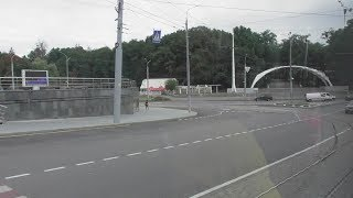 "Full HD. Ukraine. Vinnytsia city. New tram T4UA ""VinWay"" No.130. Ro..."