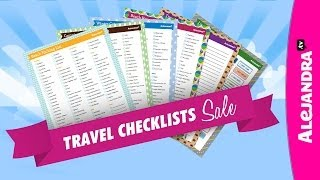 Travel Checklists for Getting Organized ☀ Thumbnail
