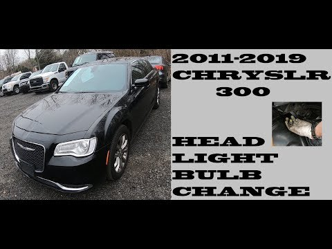 How to change replace Headlight bulbs in Chrysler 300 2011-2019