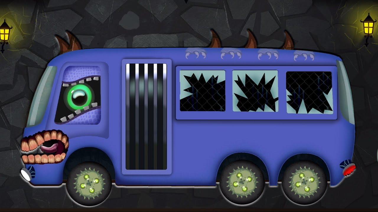 xe buýt đáng sợ | Hình thành và sử dụng | Video cho trẻ em | Childrens Vehicles | Scary Bus