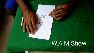 W.A.M Show   How to Draw a Ladder in 3d for Rookie