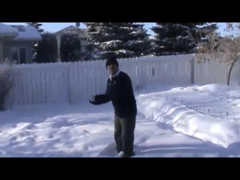 Boiling Water to Ice in Seconds, Saskatoon, Saskatchewan Canada