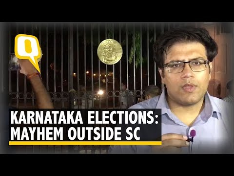 Midnight Karnataka Election Drama: Mayhem Outside Supreme Court at 2am | The Quint
