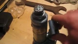 Ремонт гидравлического домкрата бутылочного типа.