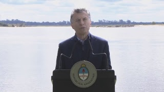EL PRESIDENTE MAURICIO MACRI ANUNCIA, EN CORRIENTES, PLAN DE MEDIOAMBIENTE