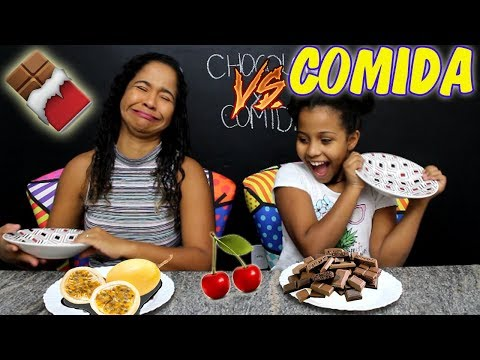 DESAFIO CHOCOLATE VS COMIDA DE VERDADE 3 | MARYANE ALMEIDA
