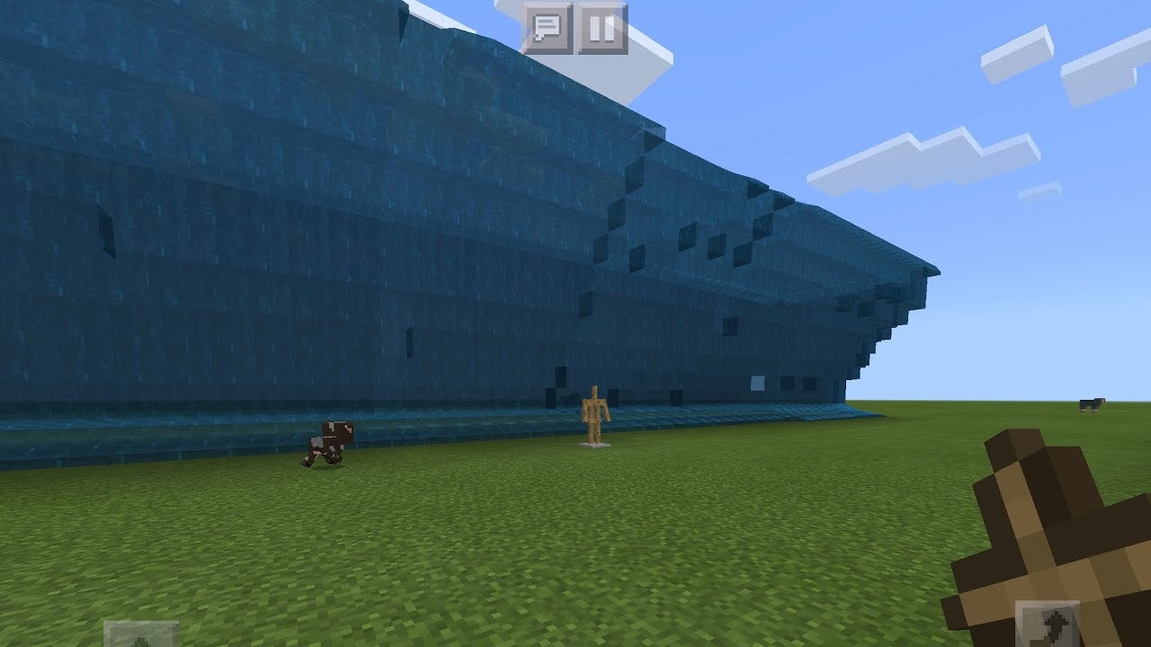 MINECRAFT POCKET EDITION TSUNAMI COMMAND! (2 commands only)