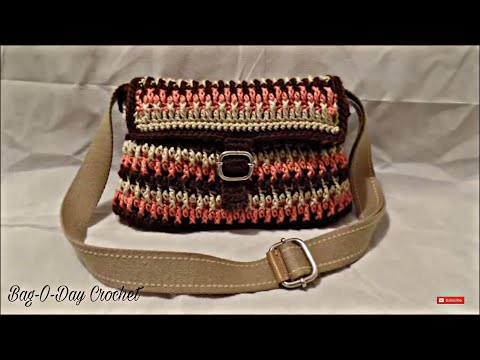 CROCHET How to #Crochet Handbag Purse #TUTORIAL #195 LEARN CROCHET