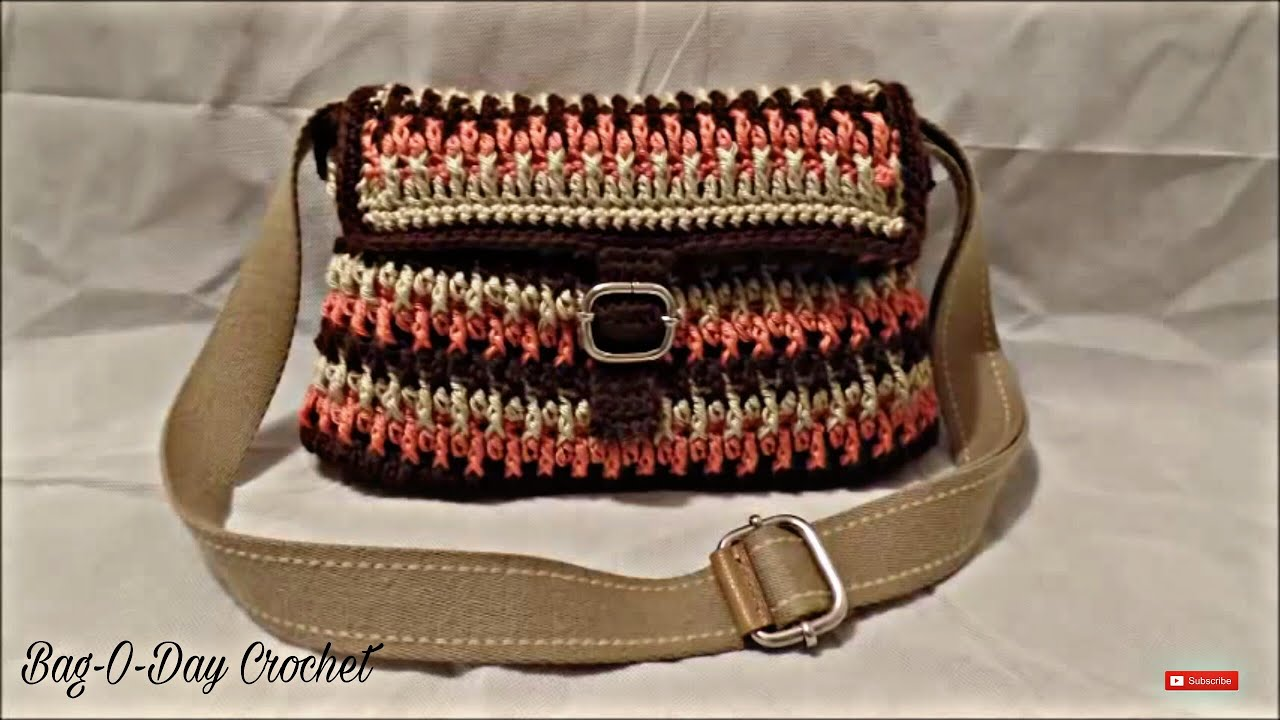 Crochet Bag Youtube : ... How to #Crochet Handbag Purse #TUTORIAL #195 LEARN CROCHET - YouTube