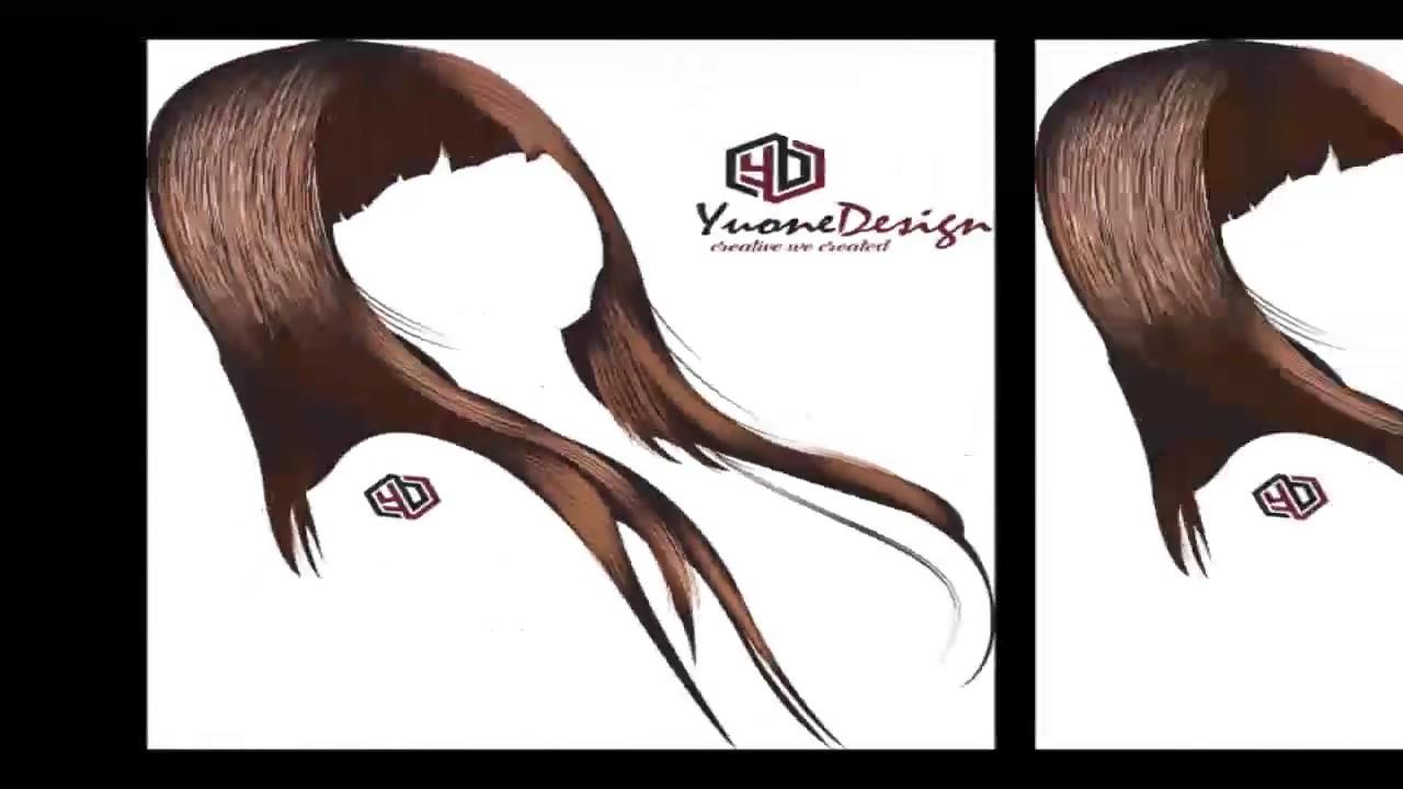 Draw Vector Hair Coreldraw Tutorial Youtube