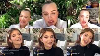 Kylie Jenner and Stassie Q&A Instagram Live