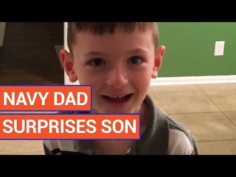 Navy Dad Surprises Son | Daily Heart Beat