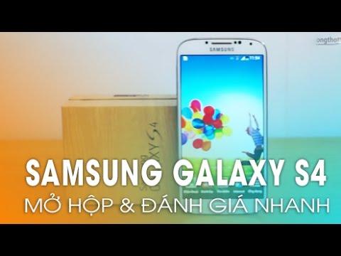 Đập hộp Samsung Galaxy S4 chính hãng đầu tiên tại Việt Nam.