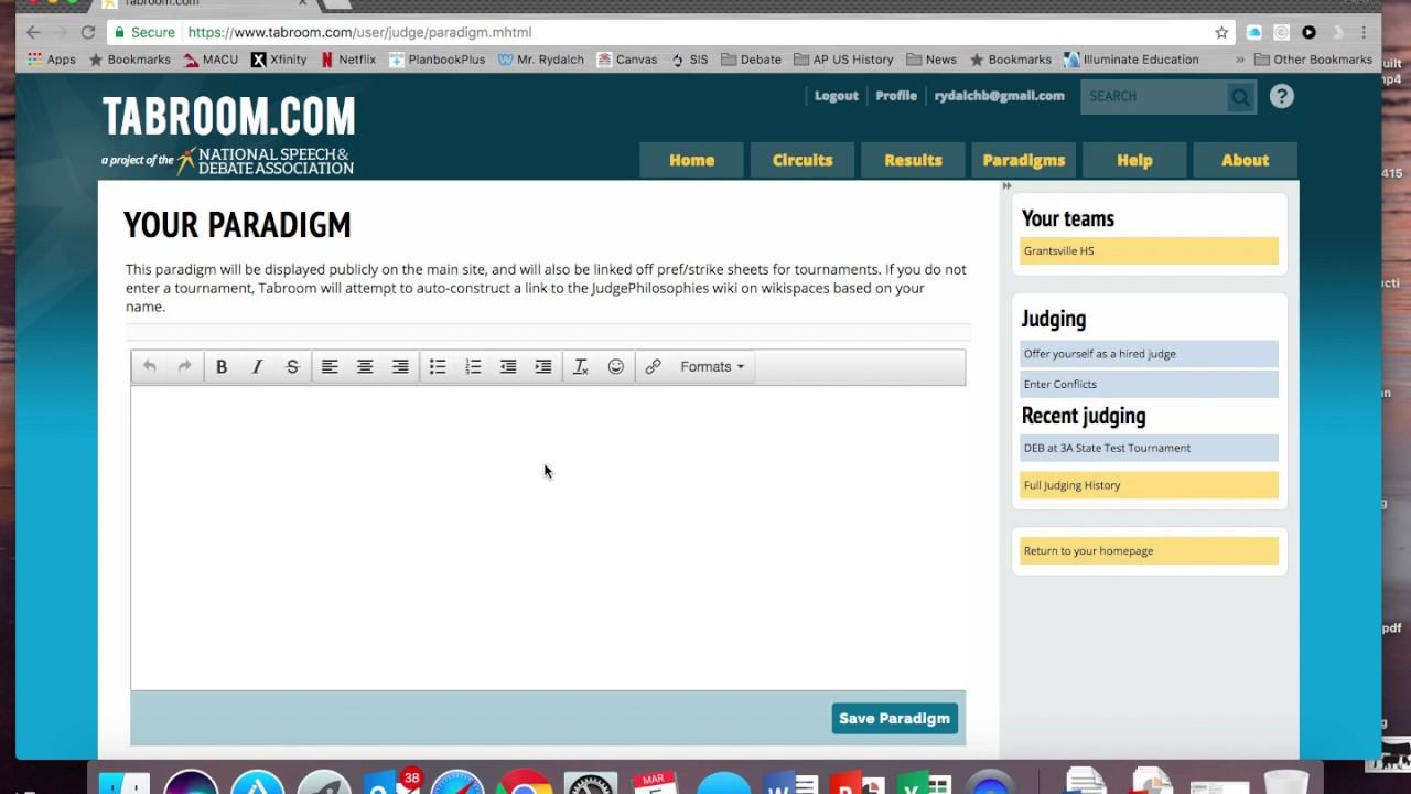Download Online Debate Ballot