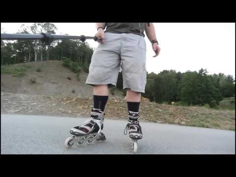 #69 First test skate at LMU In Tennessee with my Rollerblade Tempest 90 inline skates (narrated)
