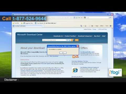 Install Microsoft® Office 2010 Compatibility Pack In Windows® XP