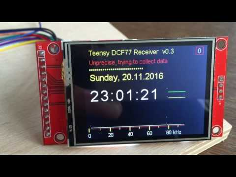 Teensy time signal DCF77 Receiver and Decoder