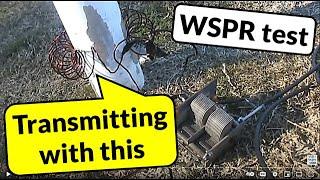 Rowland Ring antenna WSPR transmitting tests