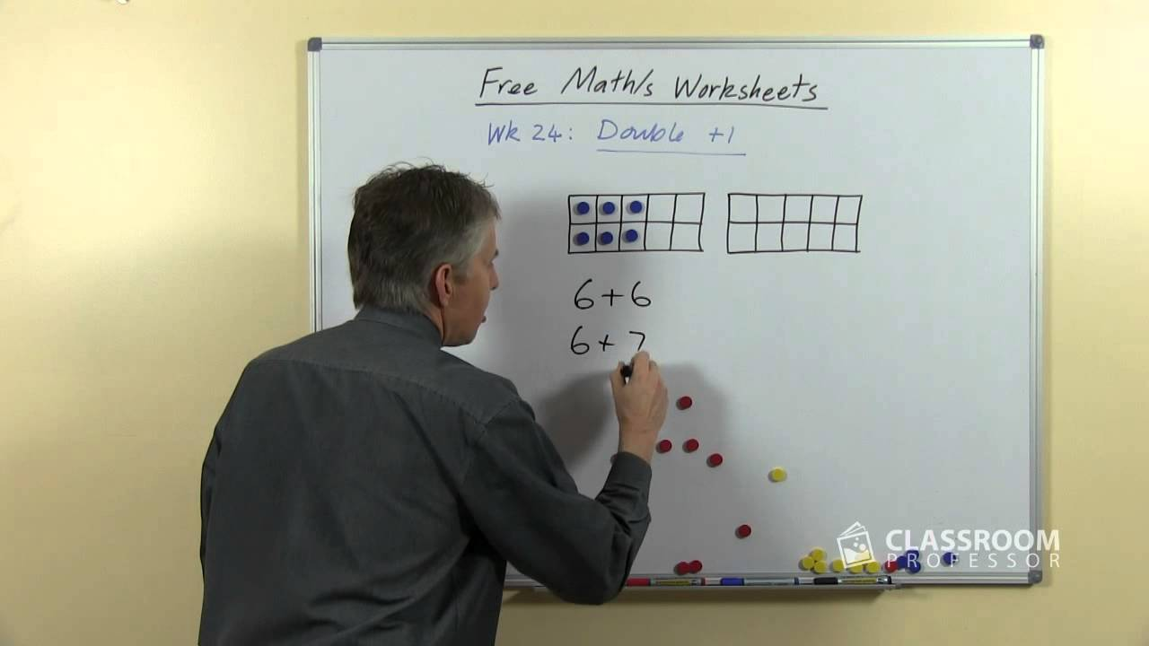 math worksheet : teach double plus 1 addition facts  youtube : Doubles Addition Facts Worksheets