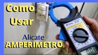 Alicate Amperímetro Como Usar-Medindo Corrente de Ar Condicionado e Lâmpadas