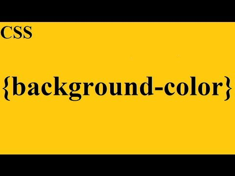CSS how to: background-color - YouTube