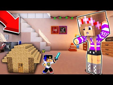 Майнкрафт но МАЛЕНЬКИЙ НУБ Затроллил ПРО в Майнкрафте Троллинг Ловушка Minecraft