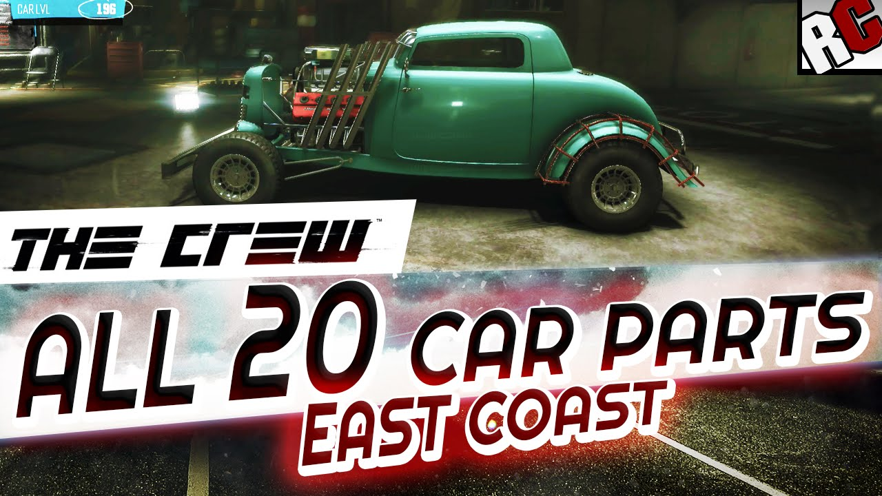 The Crew - All Hidden Car Wreck Parts EAST COAST - Achievement ...